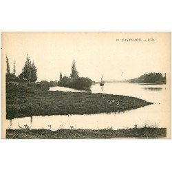 carte postale ancienne 33 CASTILLON. L'Ile