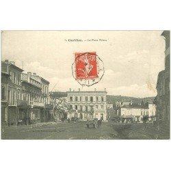 carte postale ancienne 33 CASTILLON. Place Thiers 1909