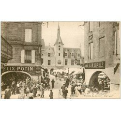 carte postale ancienne 33 LIBOURNE. Le Marché et Félix Potin