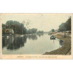 carte postale ancienne 33 LIBOURNE. Les Allées Souchet 1907 carte toilée