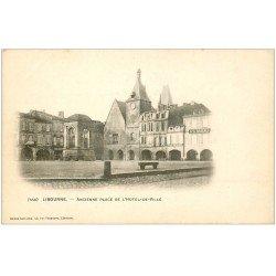carte postale ancienne 33 LIBOURNE. Place Hôtel de Ville vers 1900