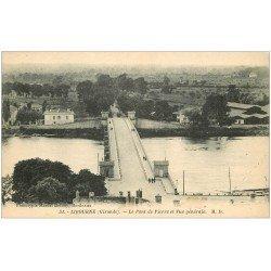 carte postale ancienne 33 LIBOURNE. Pont de Pierre