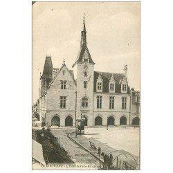 carte postale ancienne 33 LIBOURNE. Travaux de Voierie Hôtel de Ville 1917