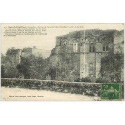 carte postale ancienne 33 SAINT-EMILION. Ancien Palais Cardinal 1919