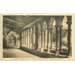 carte postale ancienne 33 SAINT-EMILION. Colonnades Cloître Eglise vers 1943