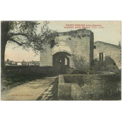 carte postale ancienne 33 SAINT-EMILION. Porte Brunet
