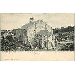 carte postale ancienne 33 SOULAC-SUR-MER. La Basilique vers 1900