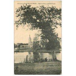 carte postale ancienne 35 ANDOUILLE. Eglise Etang