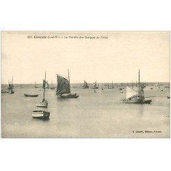 carte postale ancienne 35 CANCALE. Flotille Barques de Pêche