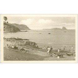 carte postale ancienne 35 CANCALE. Plage Rocher