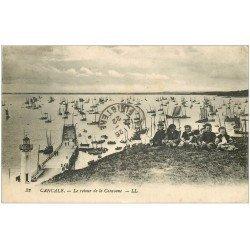 carte postale ancienne 35 CANCALE. Retour de la Caravane 1922