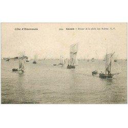 carte postale ancienne 35 CANCALE. Retour de Pêche aux Huîtres