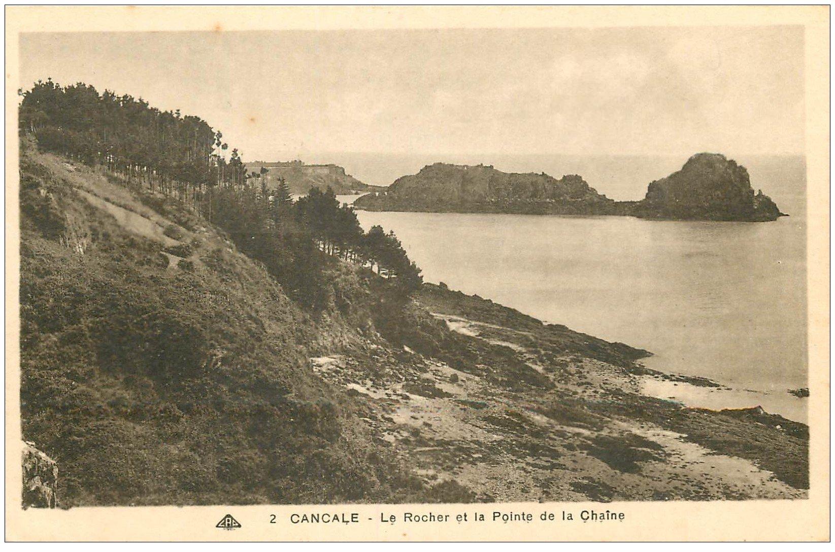 carte postale ancienne 35 CANCALE. Rochet Pointe Chaîne