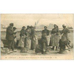 carte postale ancienne 35 CANCALE. Travail des Huîtres Parc Lehoërff