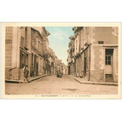 carte postale ancienne 35 CHATEAUGIRON. Grande Rue
