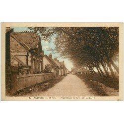 carte postale ancienne 35 CHERRUIX. Promenade de la Grève