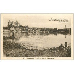 carte postale ancienne 35 COMBOURG. Etang du Château avec Gamins