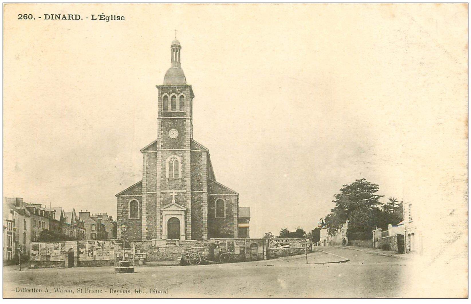 carte postale ancienne 35 DINARD. Eglise vers 1900
