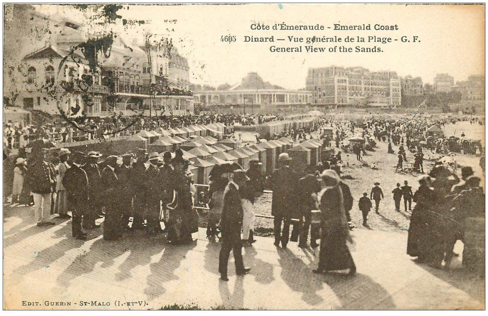 carte postale ancienne 35 DINARD. La Plage 1926