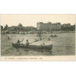 carte postale ancienne 35 DINARD. Tour de Canoé et Hôtel Royal