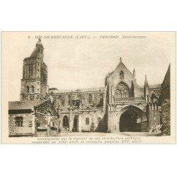 carte postale ancienne 35 DOL. Cathédrale