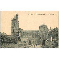 carte postale ancienne 35 DOL. Cathédrale N°33
