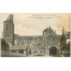 carte postale ancienne 35 DOL. Cathédrale N°5121 (pli)