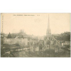 carte postale ancienne 35 FOUGERES. Eglise vers 1900