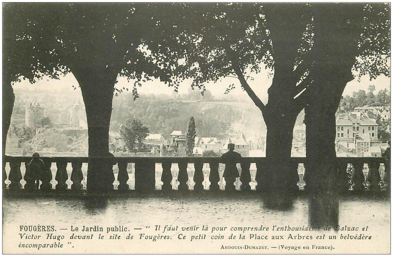 carte postale ancienne 35 FOUGERES. Jardin Public