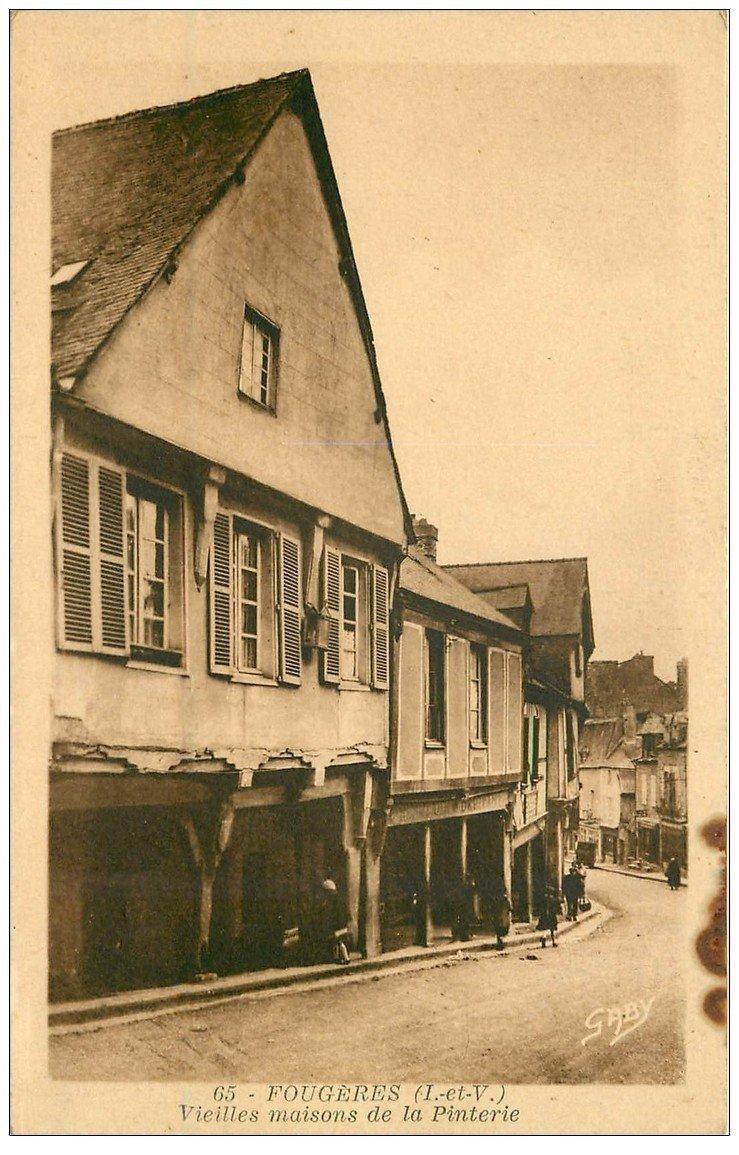 carte postale ancienne 35 FOUGERES. Maison Pinterie