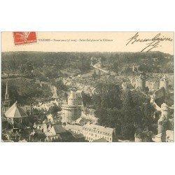 carte postale ancienne 35 FOUGERES. Saint-Sulpice et Château 1910