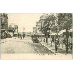 carte postale ancienne 35 PARAME. Magasin de Cartes Postales Boulevard Rochebonne