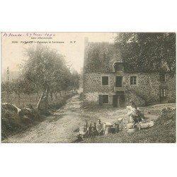 carte postale ancienne 35 PARAME. Paysage et Laveuses 1904