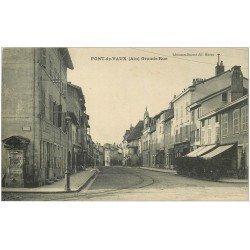 carte postale ancienne 01 PONT-DE-VAUX. Grande Rue