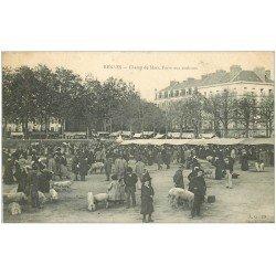 carte postale ancienne 35 RENNES. Foire aux Cochons 1907