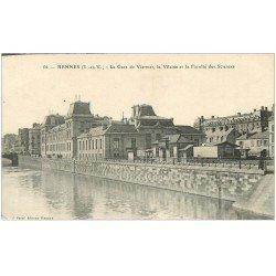 carte postale ancienne 35 RENNES. Gare Viarmes Faculté Sciences
