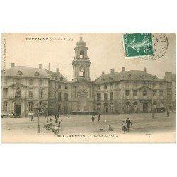 carte postale ancienne 35 RENNES. Hôtel de Ville 1909