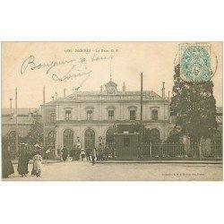carte postale ancienne 35 RENNES. La Gare 1905