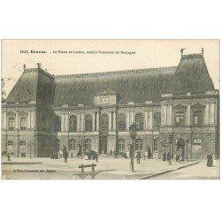 carte postale ancienne 35 RENNES. Palais de Justice 1918