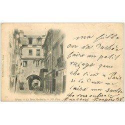 carte postale ancienne 35 RENNES. Porte Mordelaise 1904