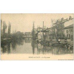 carte postale ancienne 01 PONT-DE-VAUX. La Reyssouse. Lavandière Laveuse