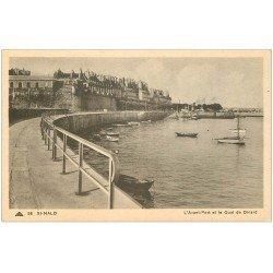 carte postale ancienne 35 SAINT-MALO. Avant-port Quai Dinard