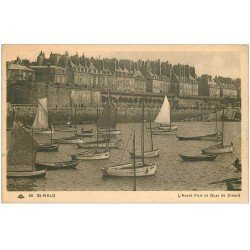 carte postale ancienne 35 SAINT-MALO. Avant-Port Quai Dinard 1939