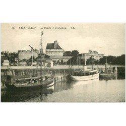 carte postale ancienne 35 SAINT-MALO. Bassin et Château