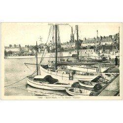 carte postale ancienne 35 SAINT-MALO. Bassin Vauban 1950