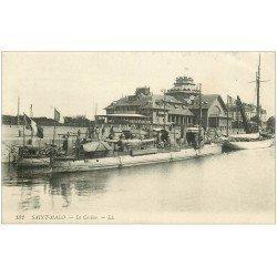carte postale ancienne 35 SAINT-MALO. Casino et Torpilleur