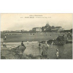 carte postale ancienne 35 SAINT-MALO. Casino Plage 1921
