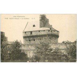 carte postale ancienne 35 SAINT-MALO. Château