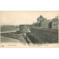carte postale ancienne 35 SAINT-MALO. Château Plage 429