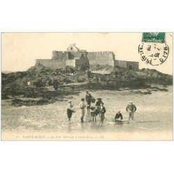 carte postale ancienne 35 SAINT-MALO. Fort National 1908